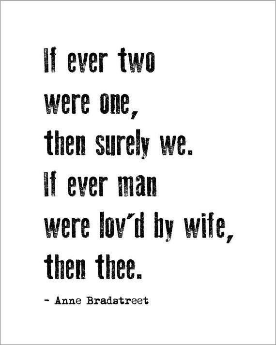Instant Download Printable Love Poem Anne Bradstreet By Jenniferdaredesigns 5 00 Love Poems Romantic Poetry Poetry Happy