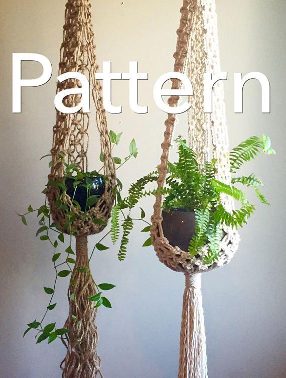 Stella Macrame Pattern Intermediate Plant Hangerpdf Diy Tutorial