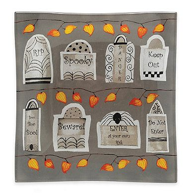 Boston International Tombstone Square Plates (Set of 6)
