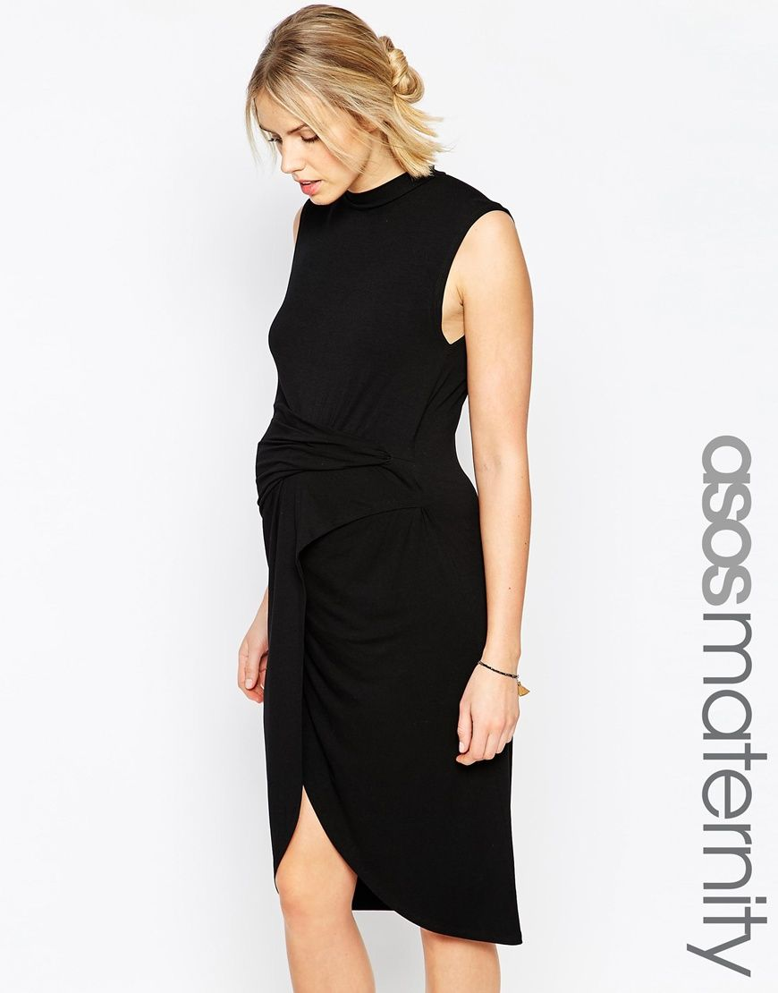 Asos maternity bodycon dress with twist knot and asymmetric hem asos maternity bodycon dress with twist knot and asymmetric hem ombrellifo Choice Image