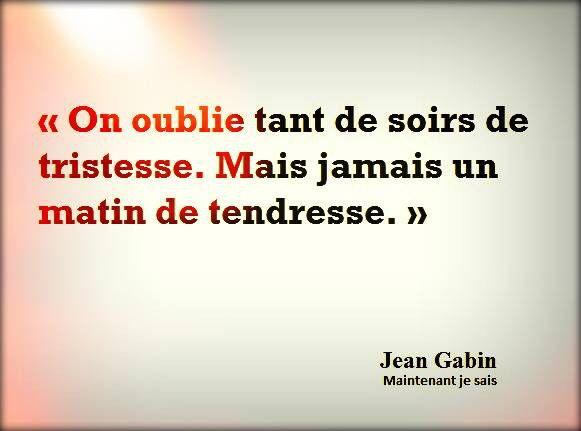 """Jean Gabin """"Maintenant je sais"""""""
