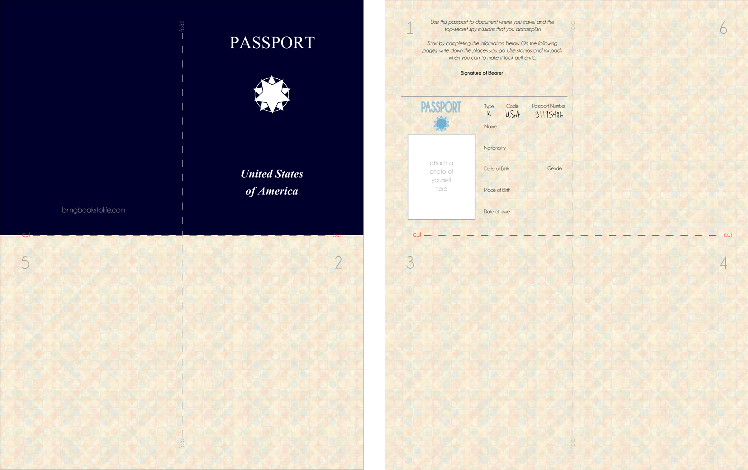 image about Printable Passports known as Children Printable Pport YMCA suggestions Pports for small children