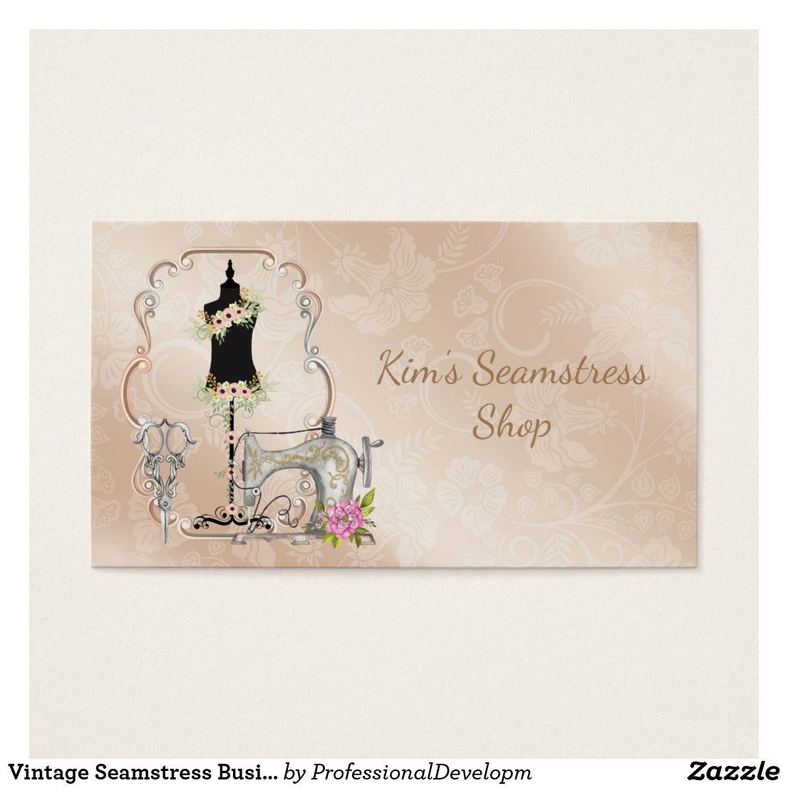 Vintage Seamstress Business Card | Business cards and Business