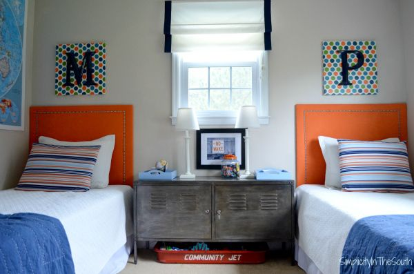 Shared Boys Geometrical Bedroom: {Room Reveal} Our Two Youngest Boys' Shared Bedroom