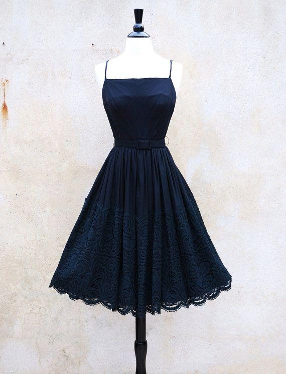 185 Etsy Vintage Audrey Hepburn Style Cocktail Dress Ooo I Want