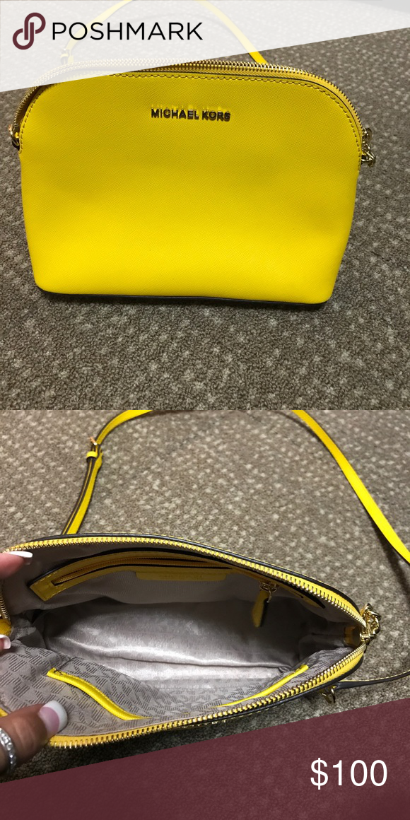 5d2c6ec7cebe Jet set dome sunflower Crossbody bag Like new authentic Michael Kors Jet  Set Dome Sunflower Crossbody