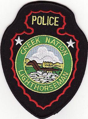 OK Lighthorseman Creek Nation Oklahoma Police Patch *New*