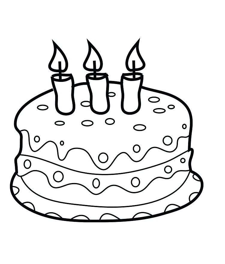 Birthday Cake Coloring Pages For Preschool Birthday Coloring Pages Happy Birthday Coloring Pages Coloring Pages For Kids