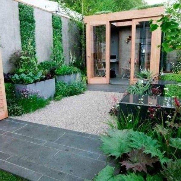 Modern Landscape Plan Style Plants Courtyard Design: Modern Small Garden Courtyard Between House And Utility