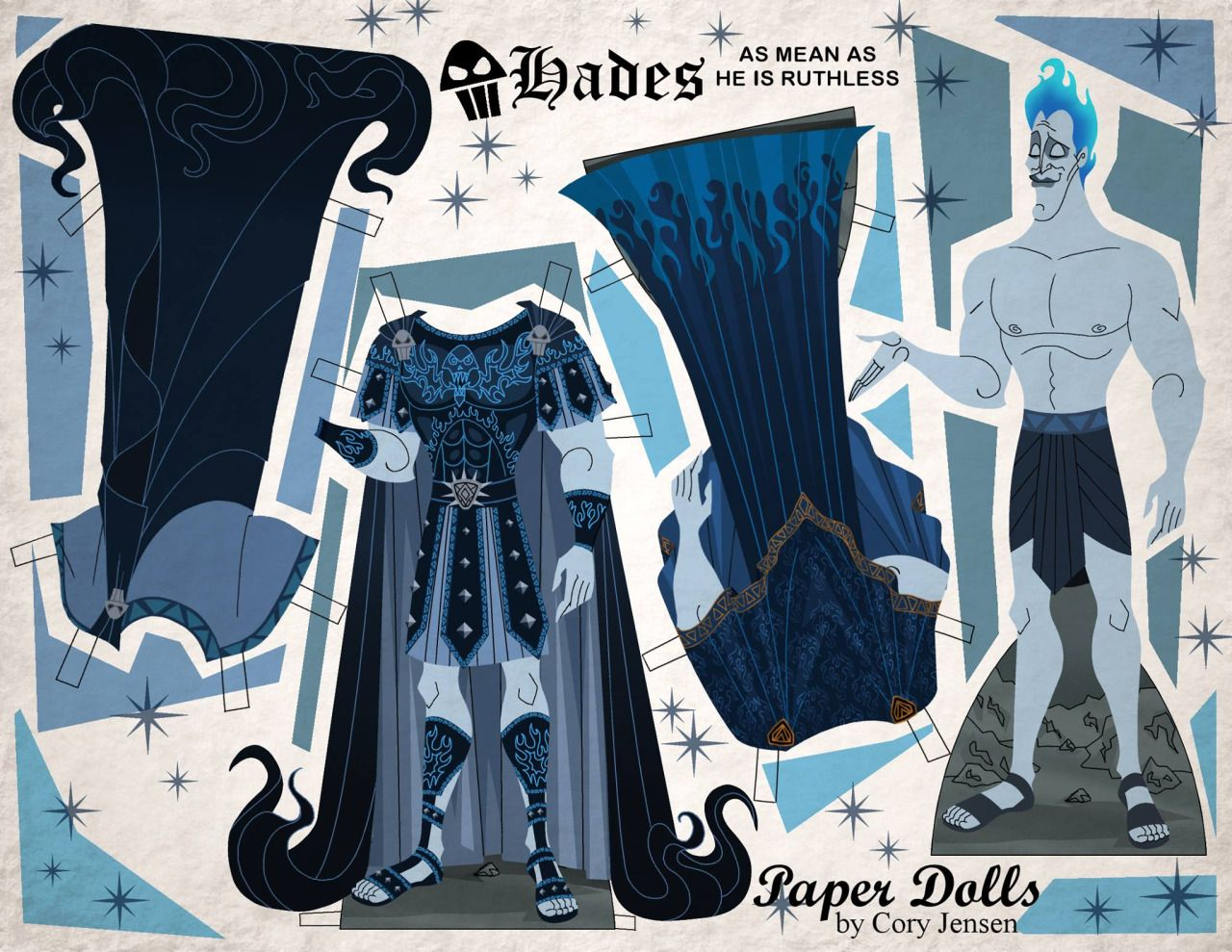 hades paper doll, anyone? part of my disney villains collection