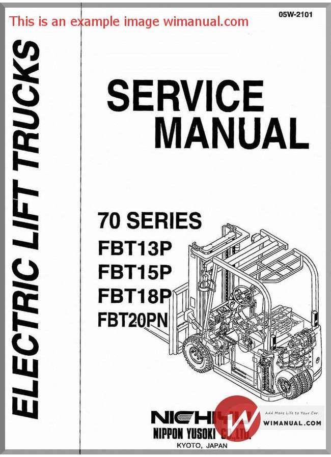 Nichiyu Forklift Fbt70 Ac 13 15 18p 20pn Service Manual