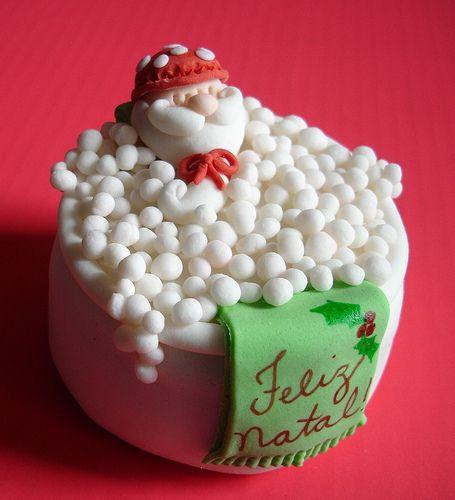 Mini bolo - Papai Noel