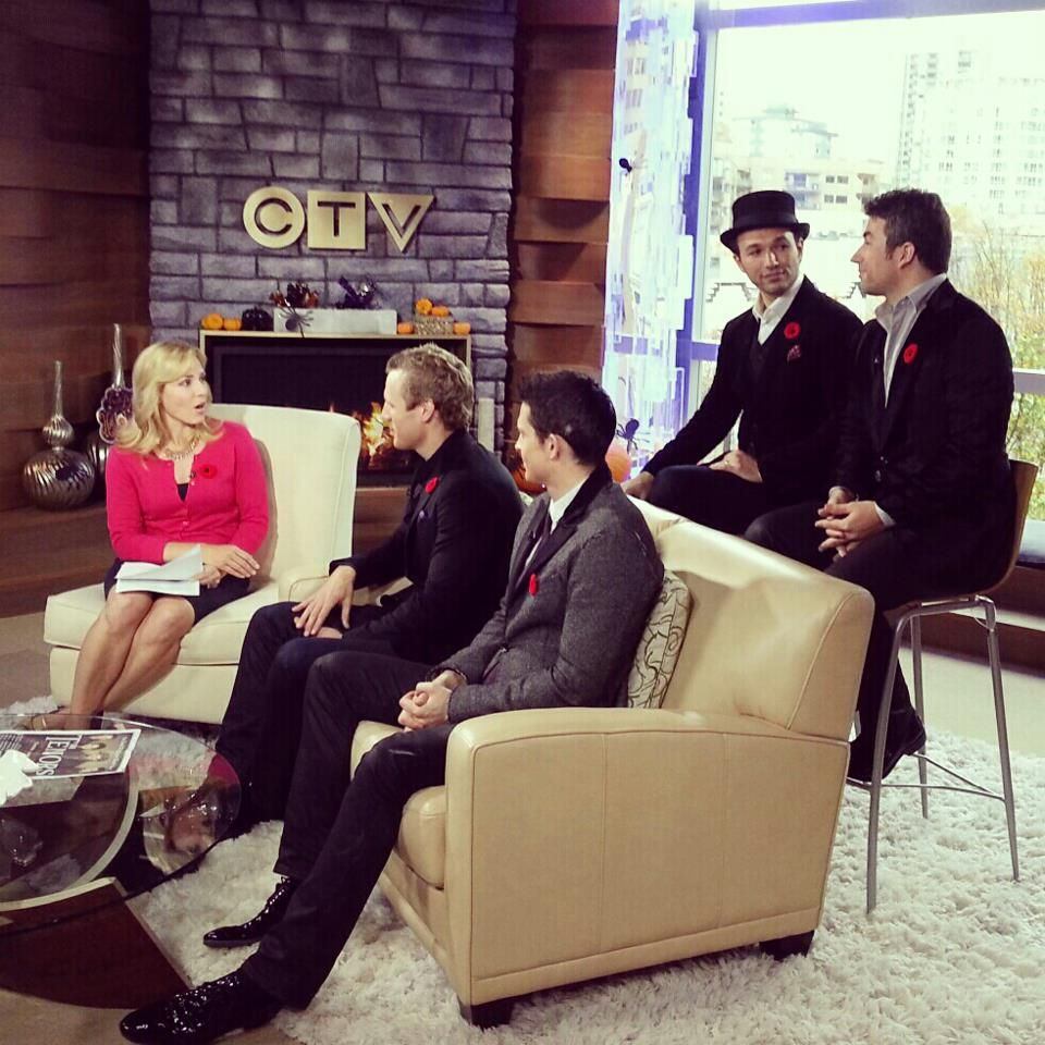 The Tenors on CTV News at Noon Scenes, Behind the scenes