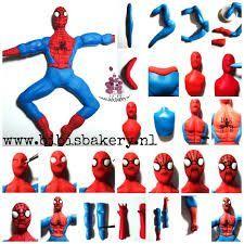 Kết quả hình ảnh cho spiderman tutorial in fondant