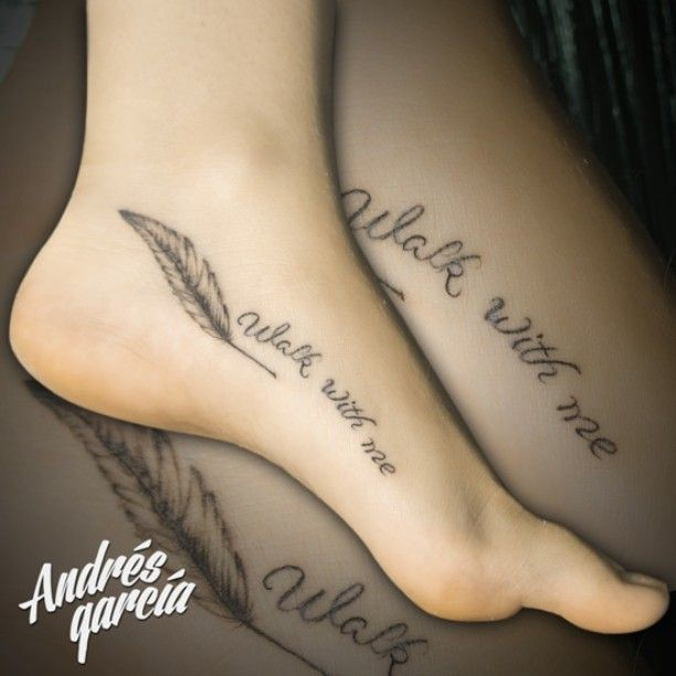 Feather Type Tattoo Feather Type Tattoo Feet Girl Pluma Frase