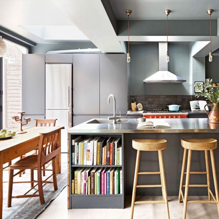 Idea Per Open Space Arredamento Della Cucina Con Isola Con Lavabo E