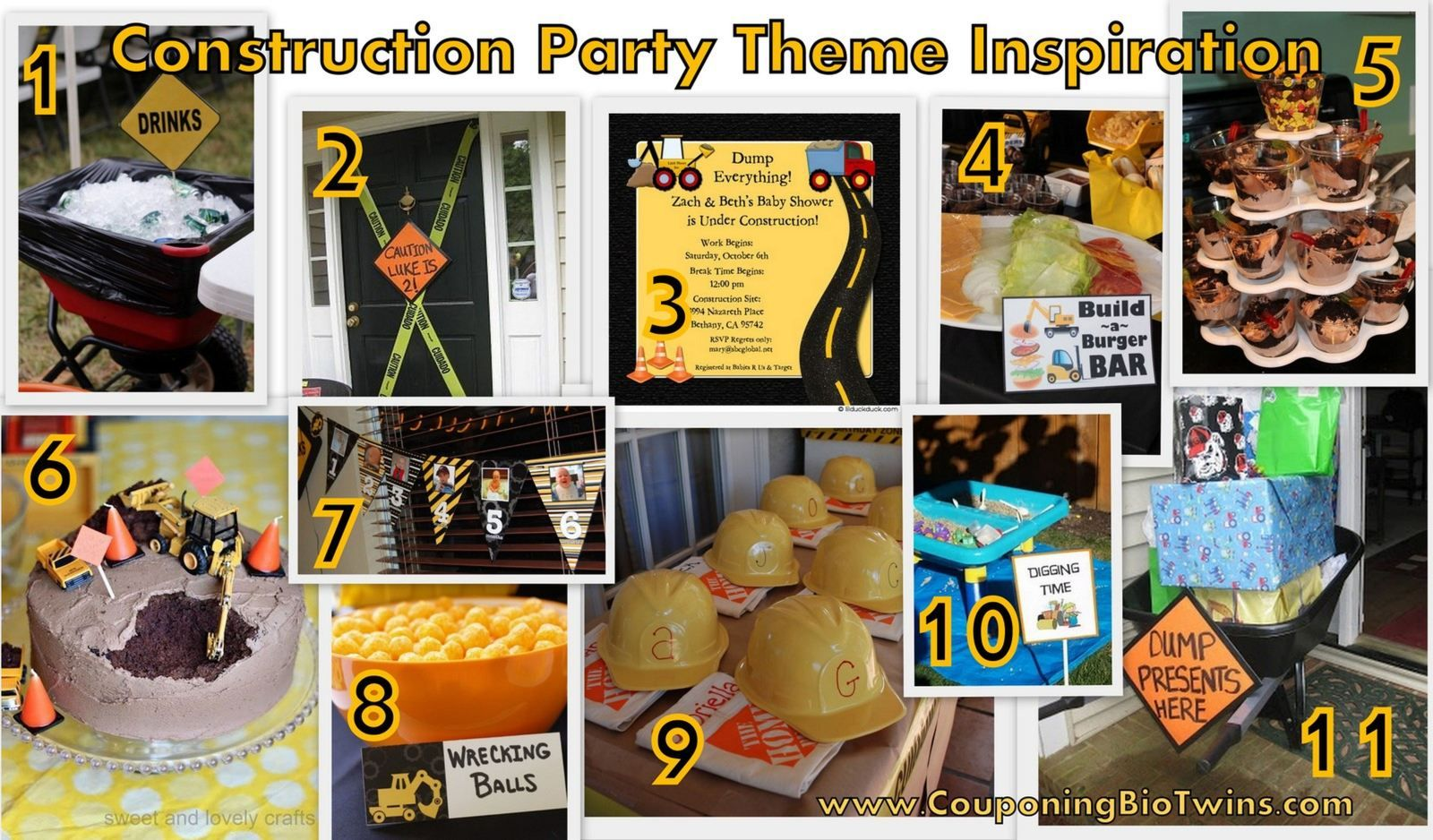Construction Theme Birthday Party Ideas I Used For My Sons 2nd