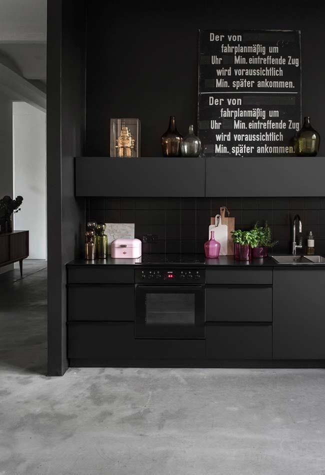 Photo of Schwarze Küche: Treffen Sie 60 aktuelle Modelle, die die Kreativität verschwenden – Nuovo stile di decorazione