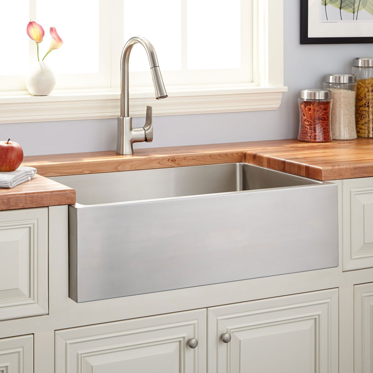 30 Atwood Stainless Steel Farmhouse Sink Signature Hardware