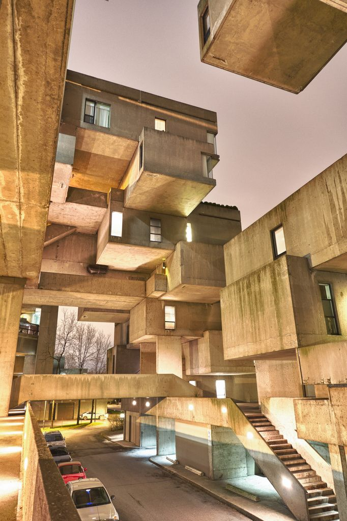 Habitat 67 A Model Community And Housing Complex In Montreal Canada Designed By Israeli