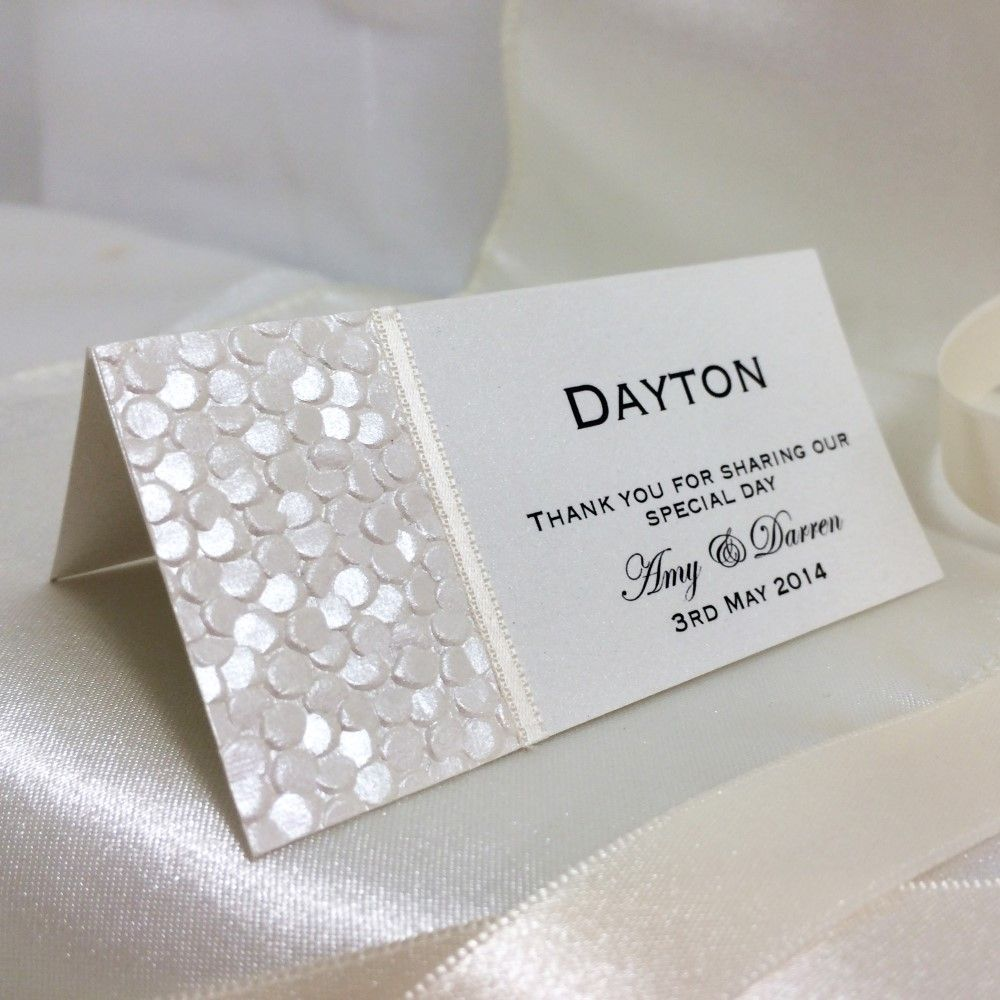 Fine Romance Place Card - simple is fabulous! This versatile ivory ...