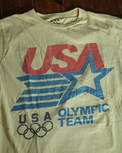 5e223a8c2 Retro Vintage USA Olympic Team T Shirt Men s Medium 1984 Licensed Tagless