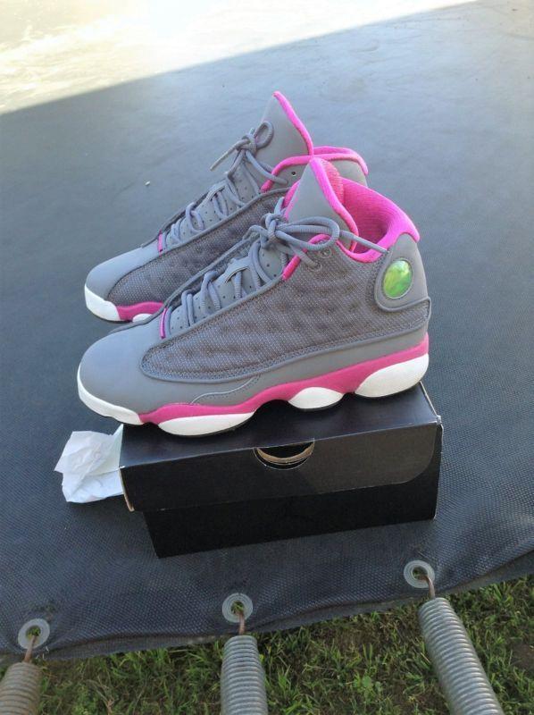 0b8f0feb36a Nike Air Jordan XIII 13 Retro Cool Grey/Fusion Pink-White GS 439358-029 SZ  5Y #fusion #pink #white #grey #cool #jordan #xiii #retro #nike