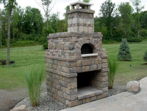 Outdoor Fireplace With Pizza Oven Combo Outdoor Pizza