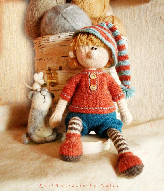 Doll Knitting Pattern Toy Knitting Pattern By Knitamiracle