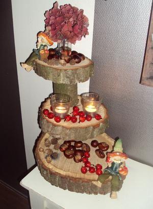 Bekijk de foto van Maschaaaaa met als titel Herfst etagere, ook leuk voor kerst, pasen etc etc en andere inspirerende plaatjes op Welke.nl.