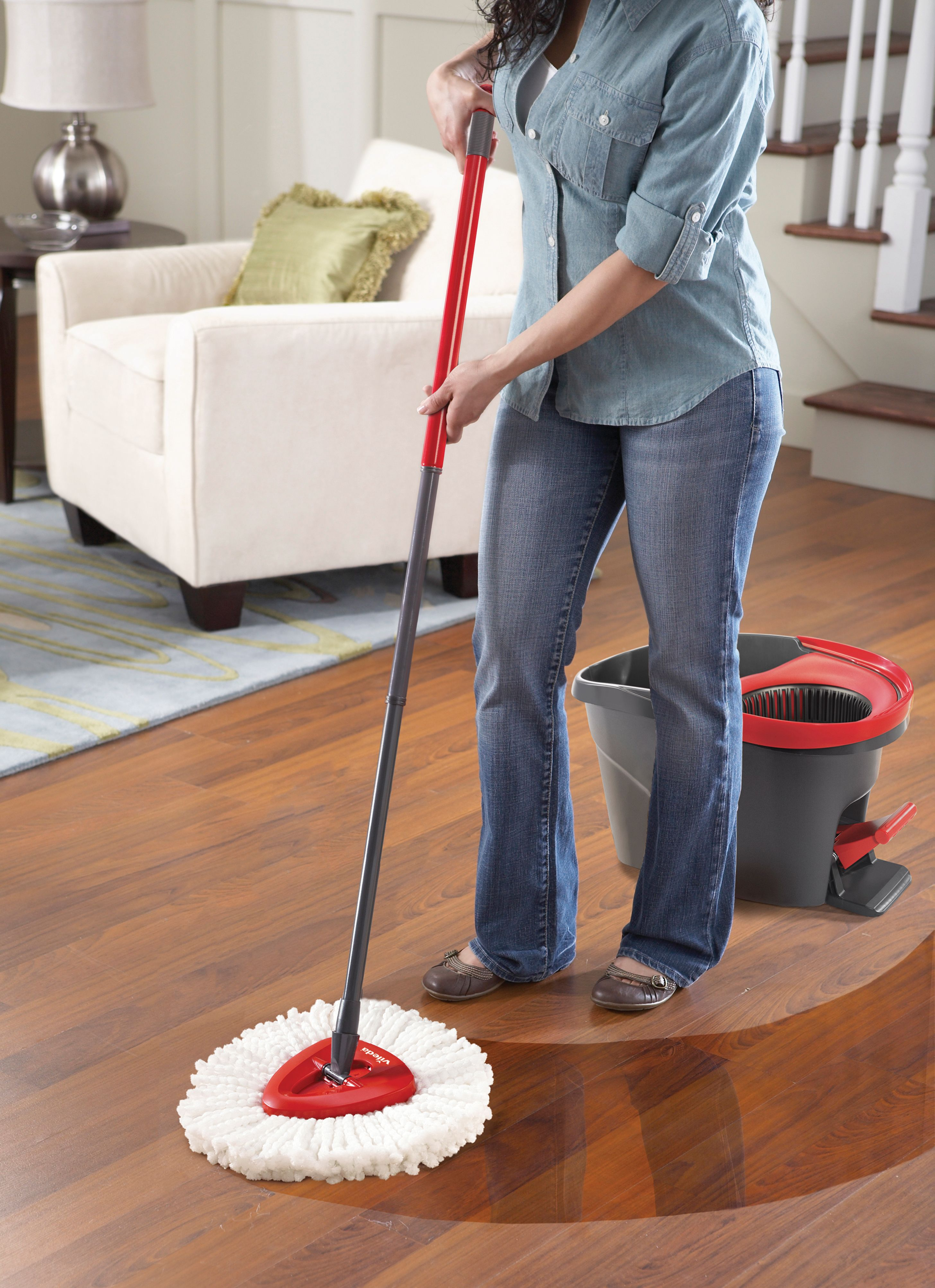 Mopping Kitchen Floor O Cedar Easywring Microfiber Spin Mop And Bucket Floor Cleaning