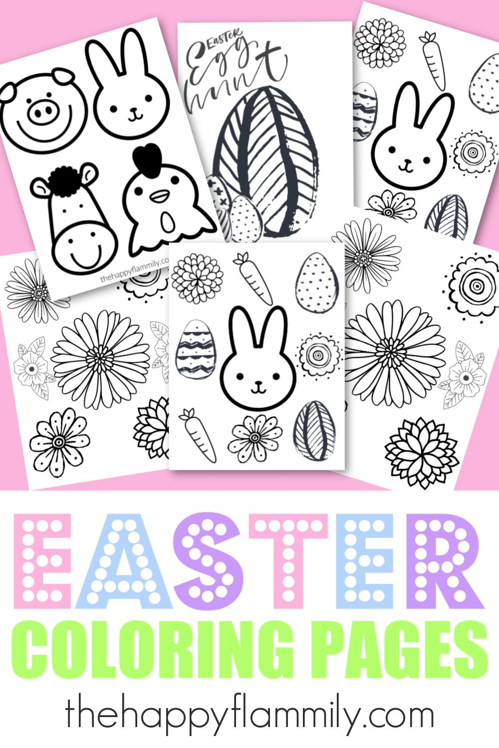 Free Easter Springtime Coloring Pages Easter Coloring Pages