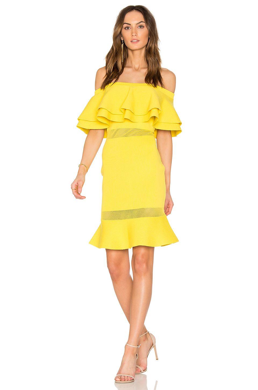 Endless Rose Flared Sweater Off The Shoulder Dress in Lemon | Cute ...