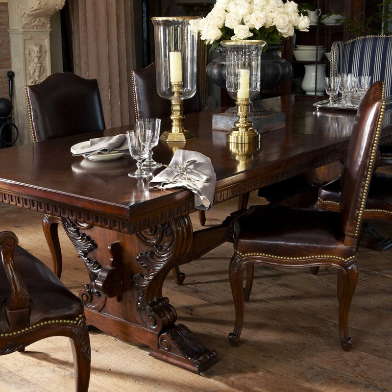 Cannes Trestle Dining Table From Ralph Lauren Solid Oak With A