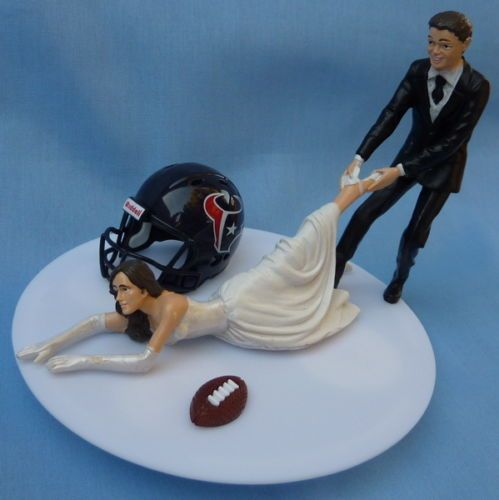 wedding cake toppers in houston tx wedding cake topper houston texans football themed 26508