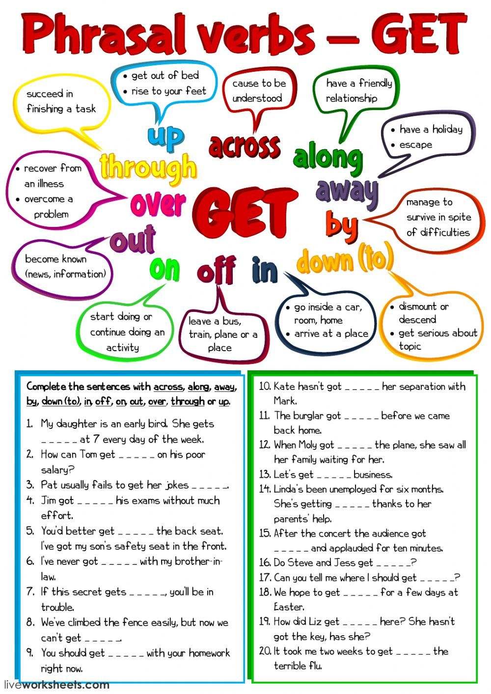 Phrasal Verbs Interactive And Downloadable Worksheet You Can Do The Exercises Online Or D Phrasal Verbs En Ingles Ingles Para Preescolar Phrasal Verbs With Up [ 1413 x 1000 Pixel ]