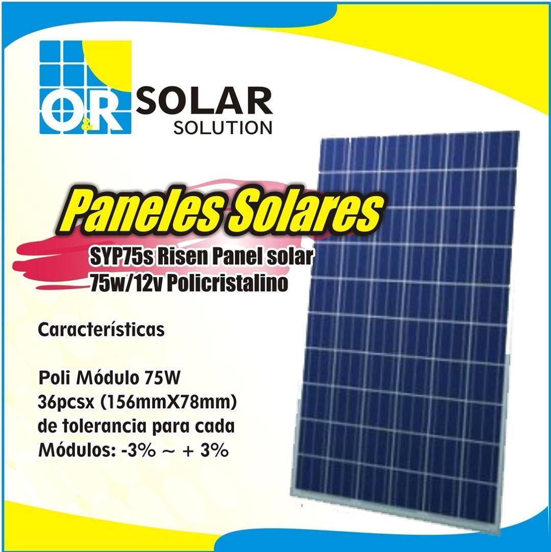 Panel Solar 75w 12v Instale Estos Equipos Con Nosotros Equipos De Calidad El Producto Correcto Para Su Proyecto Solar Energy Panels Solar Panels Solar Roof