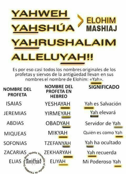 Nombres Originales Hebreo Biblia Hebrea Hebreos Y