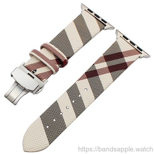 d8e42e3582a Burberry Leather Apple Watch band for 38mm 42mm iWatch Apple Watch Series 1  2