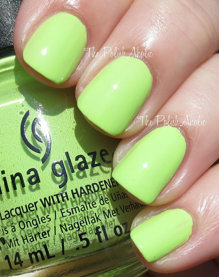 China Glaze Spring 2014 City Flourish Collection- Grass is Lime ...