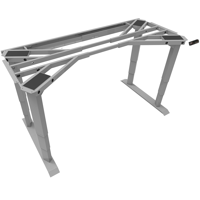 Heavy Duty 4 Leg Electric Sit Stand Desk Frame Kit (With