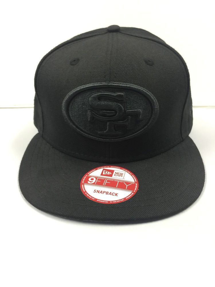 New Era San Francisco 49ers  NFL Black Black Logo 9fifty Snapback Cap Hat  from  25.99 c71a1e09ea8d