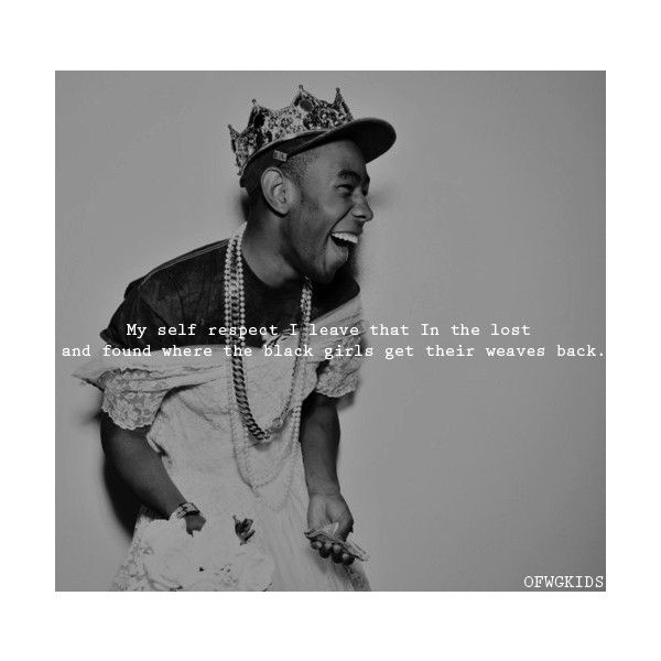 Tyler The Creator Quotes Best Tyler The Creator Quotes  Tumblr ❤ Liked On Polyvore  Polyvore