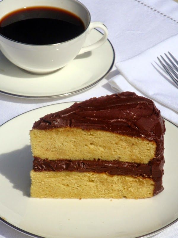 Low Carb Yellow Cake With Chocolate Buttercream Frosting Recipe