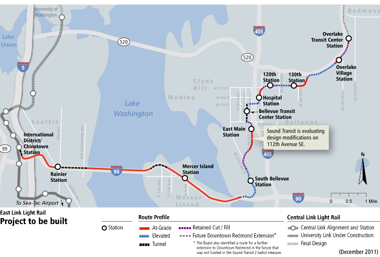 East Link alignment map | Seattle | Transit | Map, Transportation ...