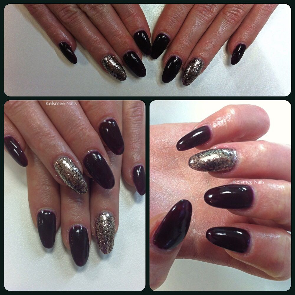Young Nails Redwood And Shimmeringsand Glitters Nalis Pinterest