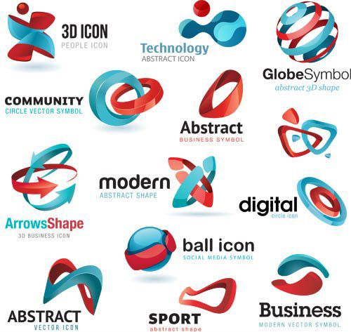 abstract 3d logo ideas wwwcheap logo designcouk