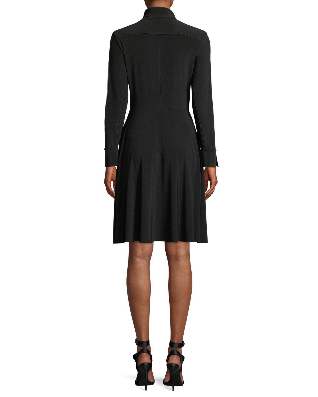 Norma kamali sidestripe longsleeve shirt dress