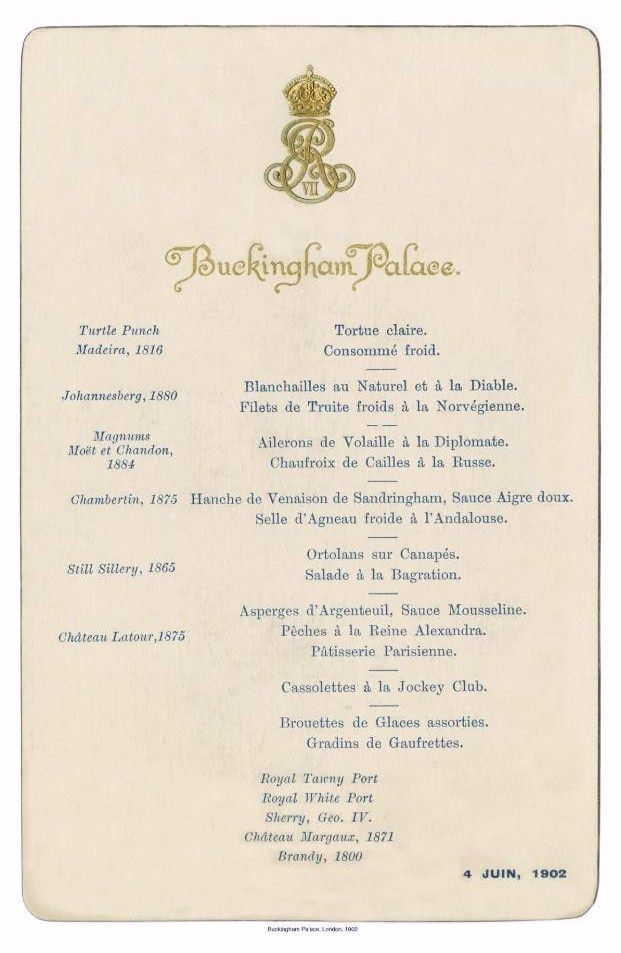 Buckingham Palace menu from 1902 Menus Pinterest Buckingham - formal dinner menu template