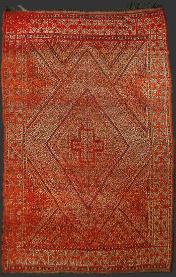 Zayan Rug Western Middle Atlas Mountains Morocco Around 1960 Tribal Carpets Rugs Berber Rug